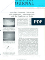 Microwave Harmonic Generation and Nanosecond Pulse Generation With the Step-Recovery Diode_ 1964