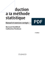 Introduction à La Méthode Statistique_Manuel Et Exercices Corrigés_Bernard Goldfarb Et Catherine Pardoux_6éme Édition