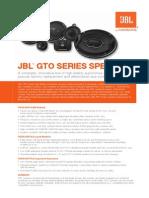 JBL GTO SERIES SPEAKERS