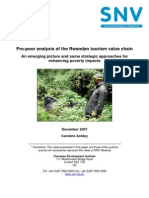 Pro-poor analysis of the Rwandan tourism value chain