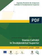 ARACIS - Barometrul Calitatii 2009 Raport Integral