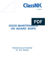 Good Maintenance on Board Ships e 2015