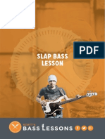 Slap Bass Lesson - Full Free Workbook With TABNotation & Action Steps