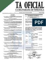 Sumario Gaceta Oficial 39.351