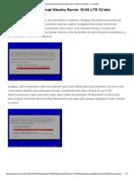 Particionamento Manual Ubuntu Server 10.04 LTS 32 Bits