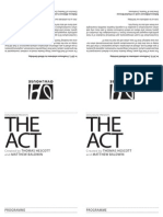 The Act Freesheet