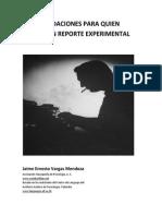 Recomendaciones Para Escribir Un Reporte Experimental