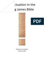 Punctuation in the King James Bible