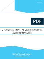 2009 - BTS Guidelines for Home Oxygen in Children Quick Reference Guide