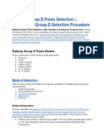 Railway Group D Posts Selection – RRB-RRC Group D Selection Procedure