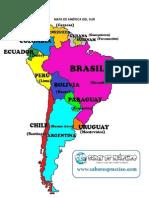 Paises de America del Sur y sus extensiones, población, rios, montañas y clima