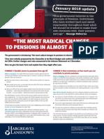 Budget 2014 Pension Changes