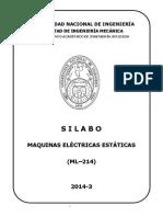 Ml214 Sylabus Maquinas Electricas