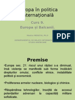 Europa inPolitica Internationala