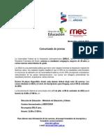 Comunicado de Prensa Unila 2013