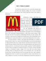Case Study of Mcdo