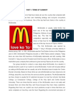 Case Study of Mcdo