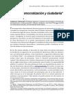 O Donnell_Estado, Democratización y Ciudadanía