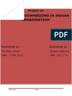 Downsizing in Indian Organisation Case Study on Boeing Company