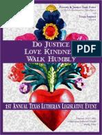 First Annual Texas Lutheran Legislative Days Binder