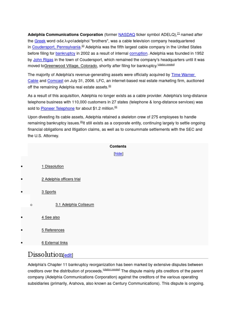 Adelphia communications corporationcx companies television adelphia communications corporationcx companies television industry buycottarizona Gallery