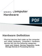 Computer Hardware Basic Input and Output Devices