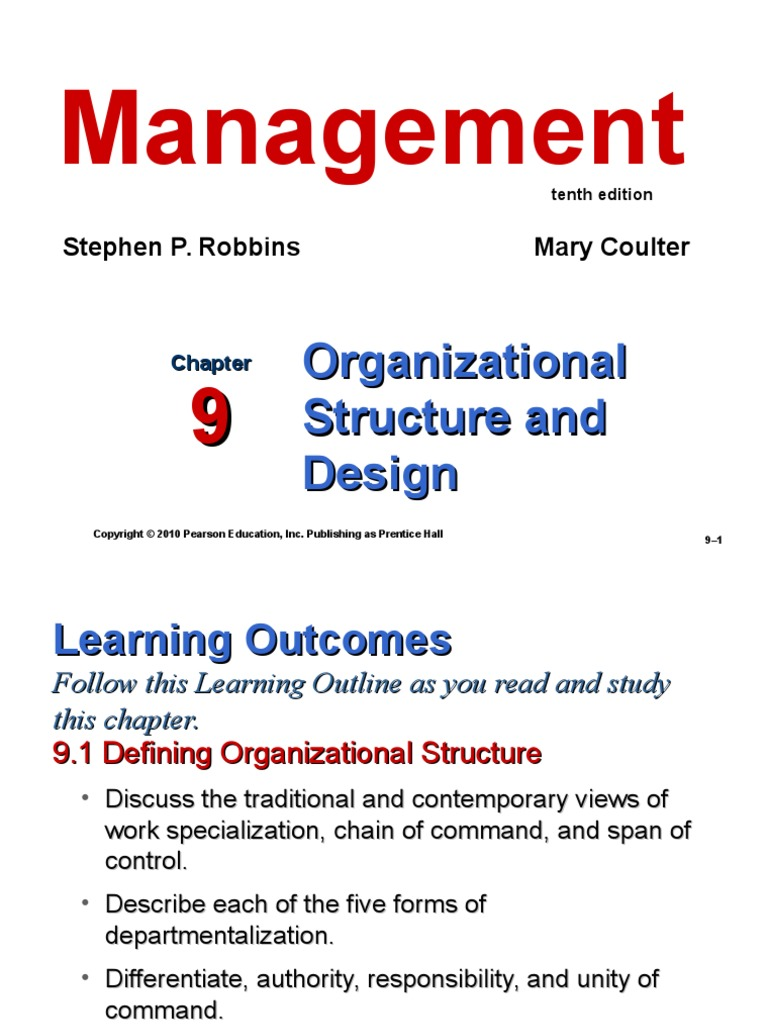 a study on organizational design and structure