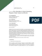 Optimization Algorithms in School Scheduling Programs