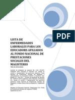 Listado Enfermedades Profesionales - Septiembre 13 de 2014
