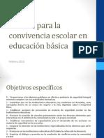 Manual Para La Convivencia Escolar en Educación Básica