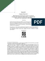 Resultados del Cuestionario sobre la reforma Presupuesto basado en Resultados y el Sistema de Evaluación del Desempeño (PbR-SED)