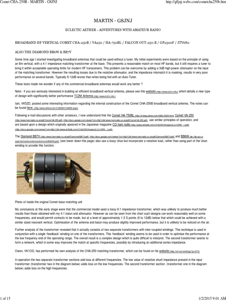 Long Wire UnUn from Salvaged PC SMPS Toroid Cores | Antenna (Radio