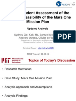 An Independent Assessment of the Technical Feasibility of the Mars One Mission Plan