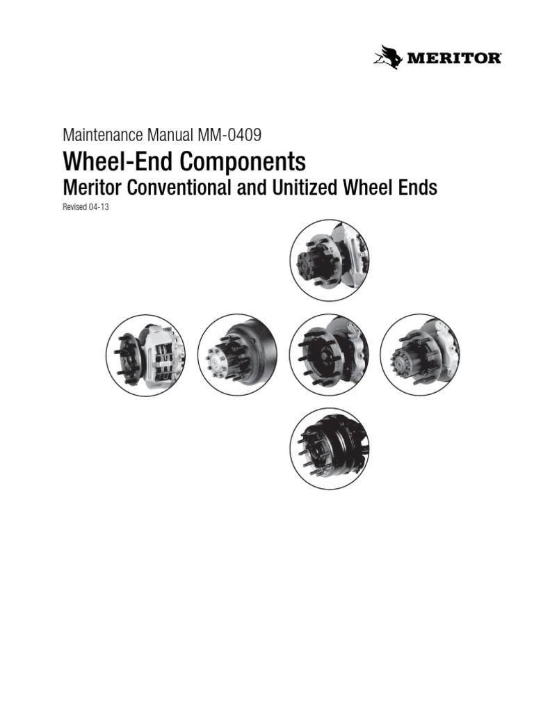 Meritor Hub-Wheel End Components pdf | Axle | Vacuum Cleaner