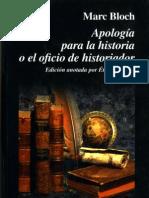 Bloch Apologia de la historia