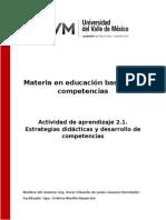 Actividad 2.1. Estrategias Didácticas y Desarrollo de Competencias