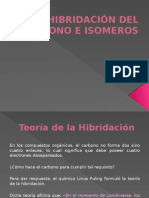 Hibridación Del Carbono e Isomeros