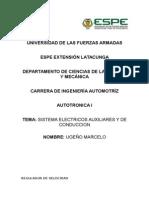 Sistemas Electricos Auxiliares y de Conduccion
