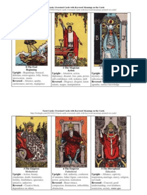 photo regarding Printable Tarot Cards With Meanings Pdf referred to as Tarot Playing cards: Outsized Playing cards with Search phrase Meanings upon the Playing cards