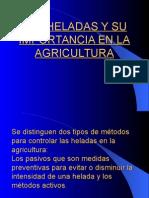 Las Heladas y Su Importancia en La Agricultura