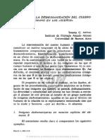 Aspectos de La Deshumación Del Cuerpo Humano en Los Sueños, Susana g. Artal