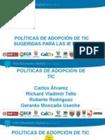 Políticas de Adopción TIC Equipo de Trabajo