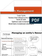 Cash Management and Models