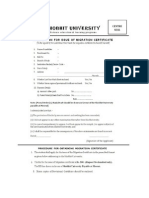 Shibhit University Migration Form