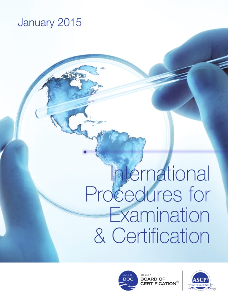 Ascpi Professional Certification Medical Laboratory