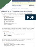 Ejemplos de SELECT (Transact-SQL)