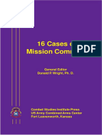 Sixteen Cases of Mission Command