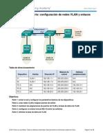 Configuración de Redes VLAN y Enlaces Troncales Solucion