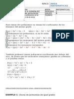 guia 5a  suma de polinomios