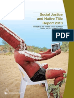 Social Justice Native Title Report 2013